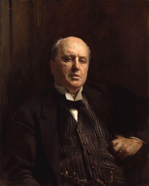 A portrait of Henry James by John Singer Sargent.