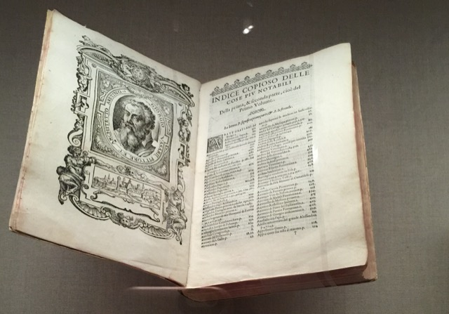 Giorgio Vasari published many books on Renaissance artists and art criticism during his lifetime. Early on, the books were works of art in their own right. Image © Saxon Henry.