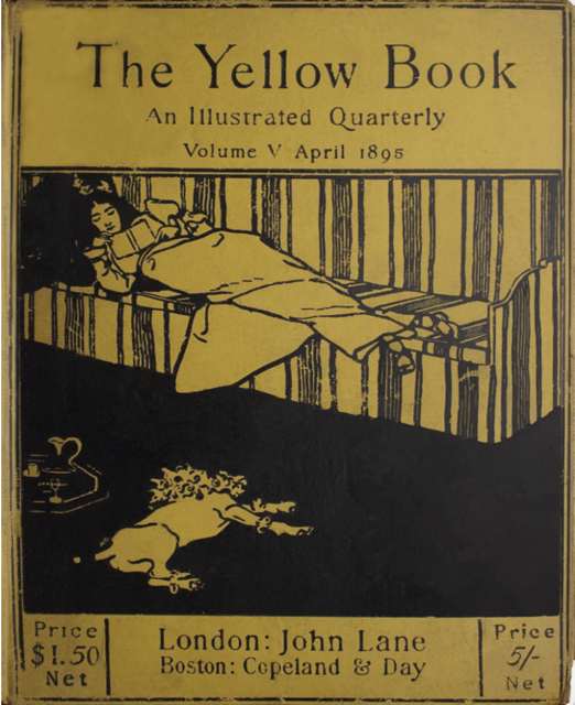 Volume V of the Yellow Book, the last edition Aubrey Beardsley art directed. Image courtesy Ryerson University.