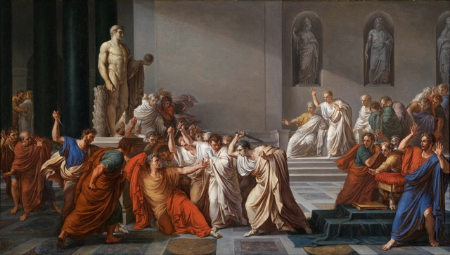 """Death of Caesar"" by Vincenzo Camuccini. Image courtesy WikiMedia."