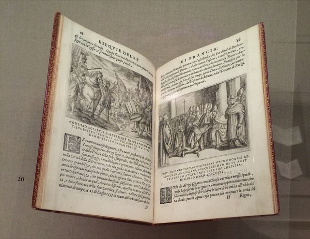 This book celebrating the life of the French King Henry IV, who was married to Marie de' Medici, was produced at the time of his death, the etchings by Aloys Rosaccio. Image © Saxon Henry.