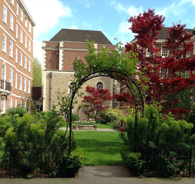 A lush garden in Temple area of London, where several of the decadents lived for a while. Image © Saxon Henry.