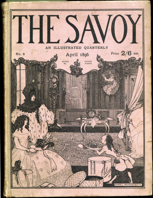 One of Beardsley's covers for The Savoy. Image courtesy of Victorian Web.