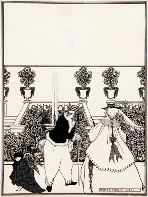 The driving of Cupid from the garden, preparatory drawing for a cover design of The Savoy (no. 3, July 1896). Image courtesy WikiMedia.