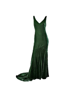 Oscar de la Renta Panne Velvet gown.