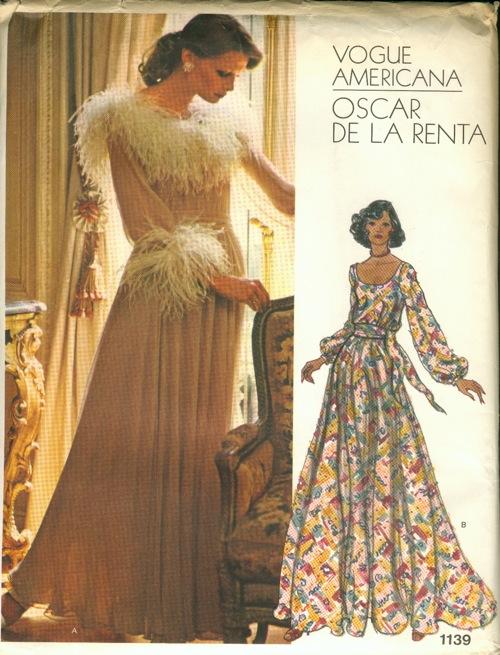 A pattern by Oscar de la Renta