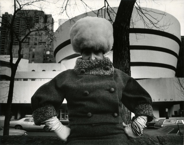 Editta Sherman with the Guggenheim.