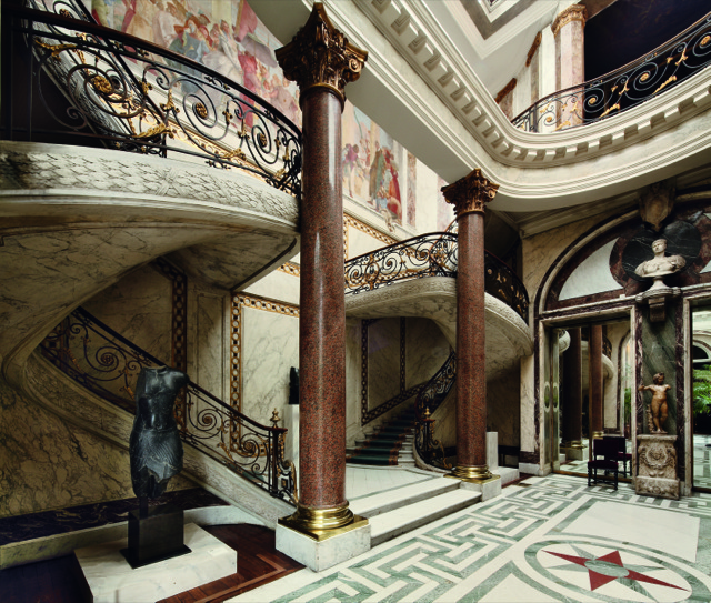 Paris' architect to high society Henri Parent, designed this grand staircase for the Hôtel André (1868-76), now the Musée Jacquemart-André. Photo courtesy The Vendome Press and Marc Walter.