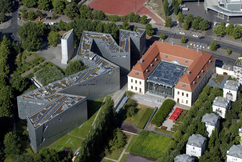 An aerial view of the Jewish Museum in Berlin, a Studio Libeskind project.