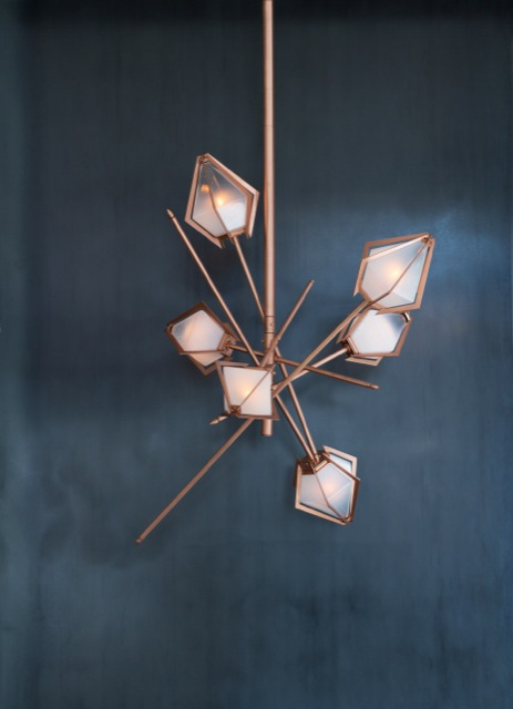Small Harlow Chandelier in Copper by Gabriel Scott