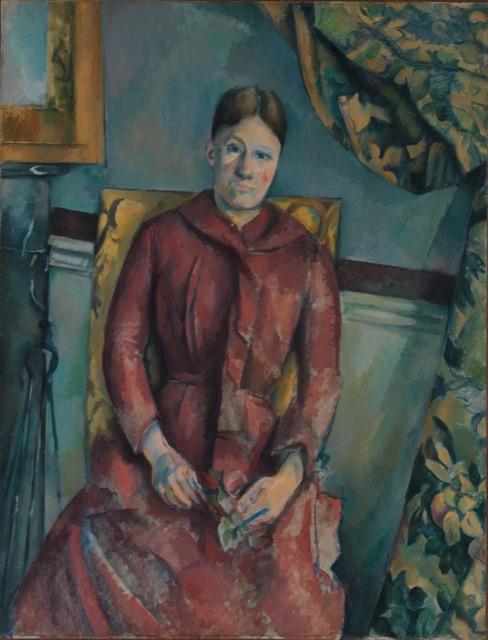 Painting of Hortense Cezanne at the MET
