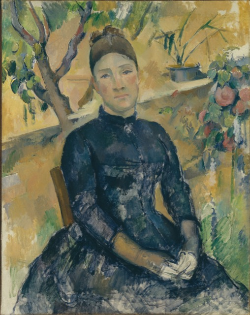 A portrait of Hortense Cezanne painted in 1891