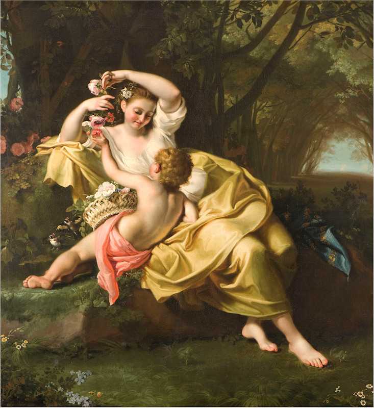 Guidobono Bartolomeo's Allegory of Spring painting