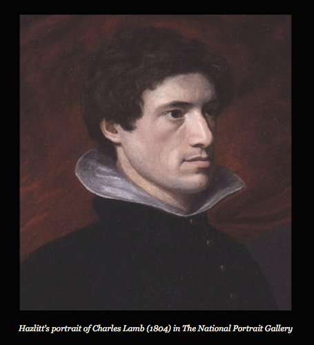 Hazlitt's portrait of British essayist and poet Charles Lamb.