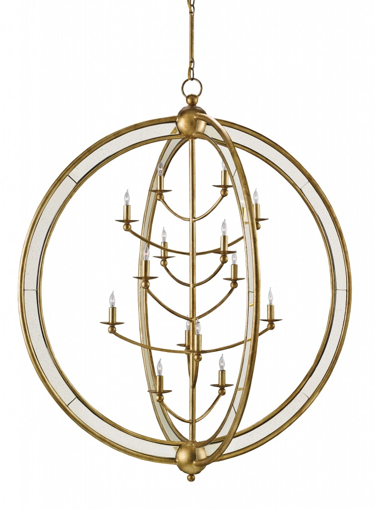 The Aphrodite chandelier by Currey & Company