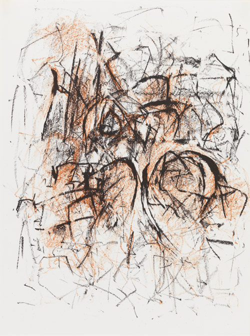 Joan Mitchell painted Meditations in an Emergency