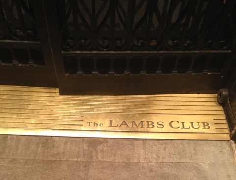 The Lambs Club Door Threshold