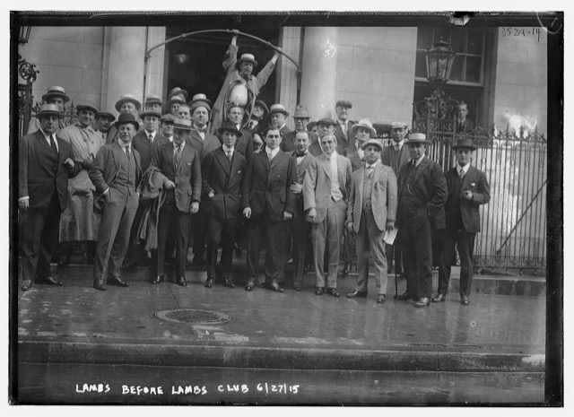 Image of the original Lambs in New York City, the old familiar faces
