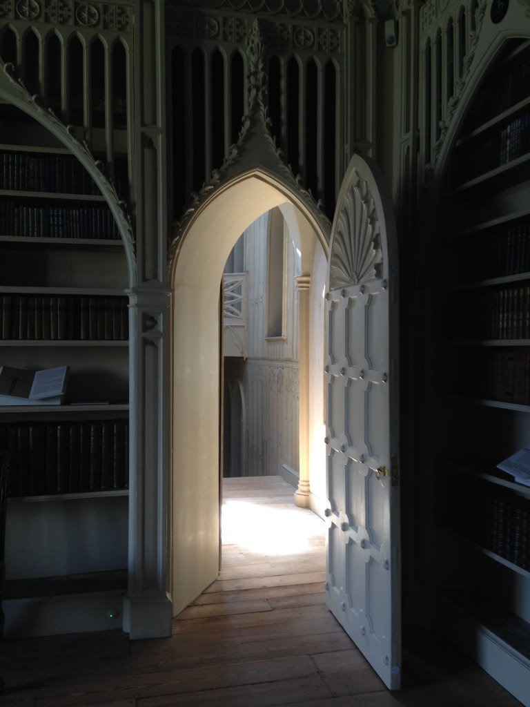 Saxon Henry photographs the Library door at Strawberry Hill