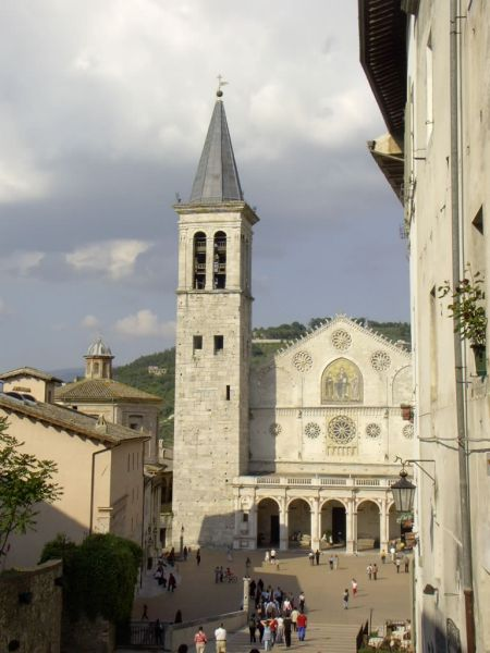The Spoleto Cathedral in Italy.