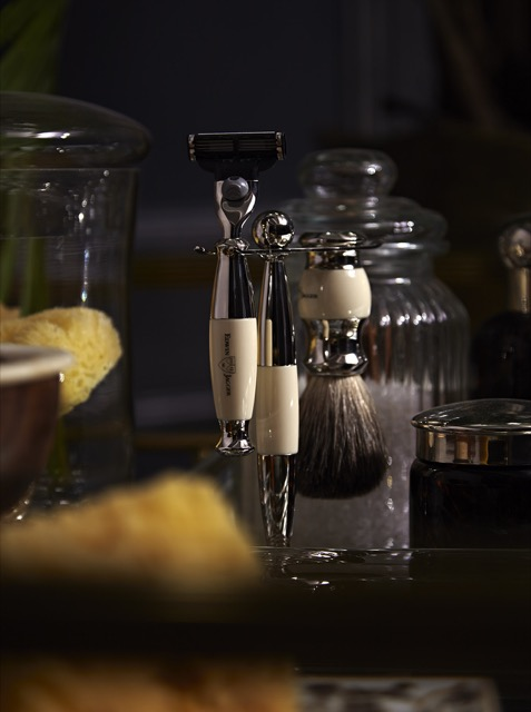 Detail of shaving accoutrements from Shaulis' DXV space