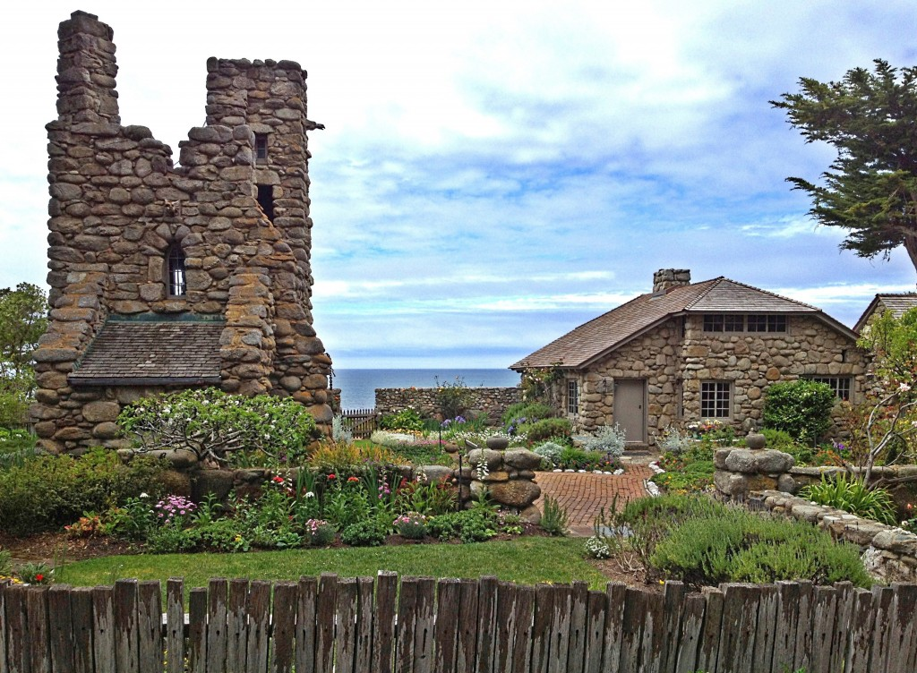 Robinson Jeffers' Tor House and Hawk Tower.