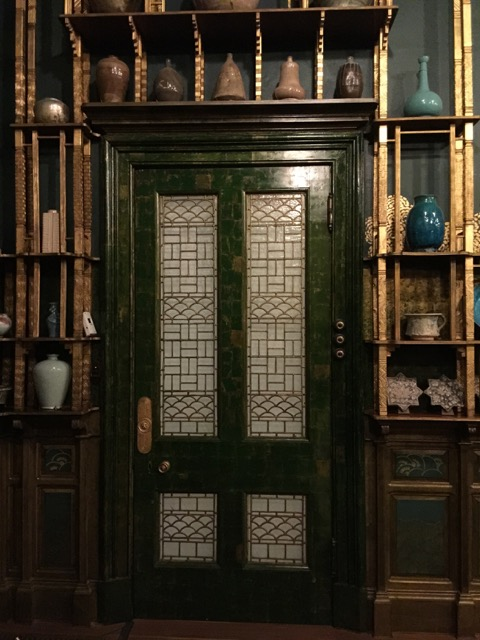 Whistler used the wave pattern on the Peacock Room's pantry door as inspiration