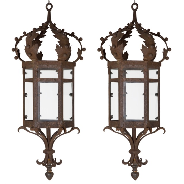 Lorfords Antiques sells unique antiques like wrought iron lanterns