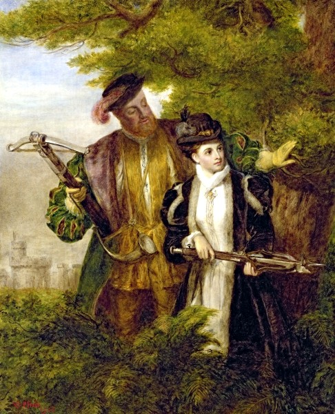 Henry VIII and Anne Boleyn Deer Shooting in Windsor Forest by William Powell Frith