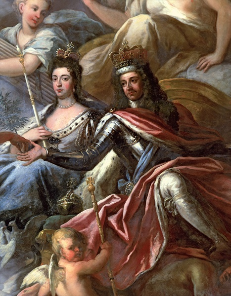A painting of King and Queen William and Mary.