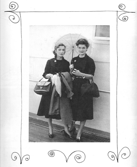 A photograph of Jackie and Lee Bouvier returning from Europe