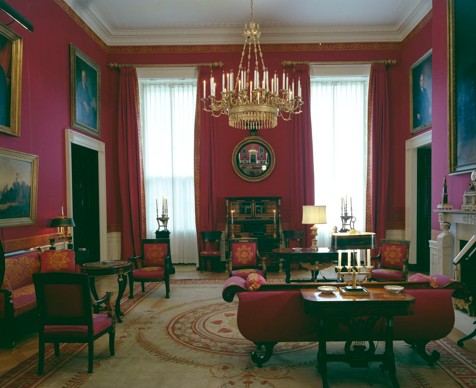 Jackie Kennedy restored the Red Room of the White House
