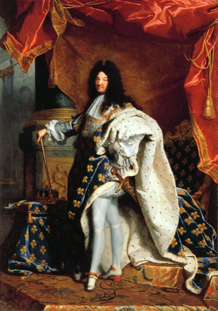 King Louis XIV painted by Hyacinthe Rigaud