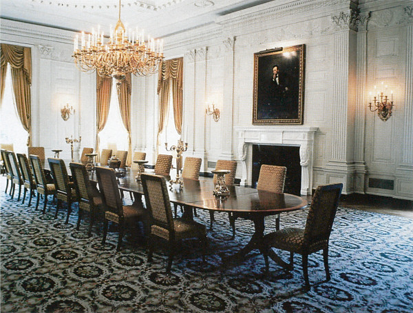 The State Dining Room of the White House in 1962