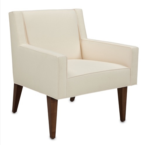 Currey and Company's new Sullivan armchair in the Dunbar Collection