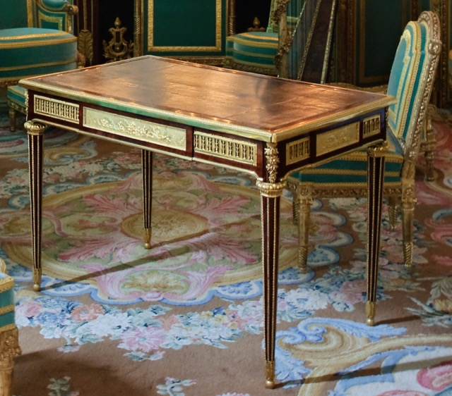 The writing table of Marie Antoinette at Versailles