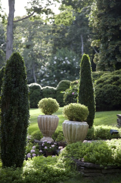 World-renowned formal gardens are well represented in Moss's book.