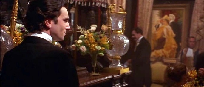 Daniel Day Lewis filming The Age of Innocence at The National Arts Club.