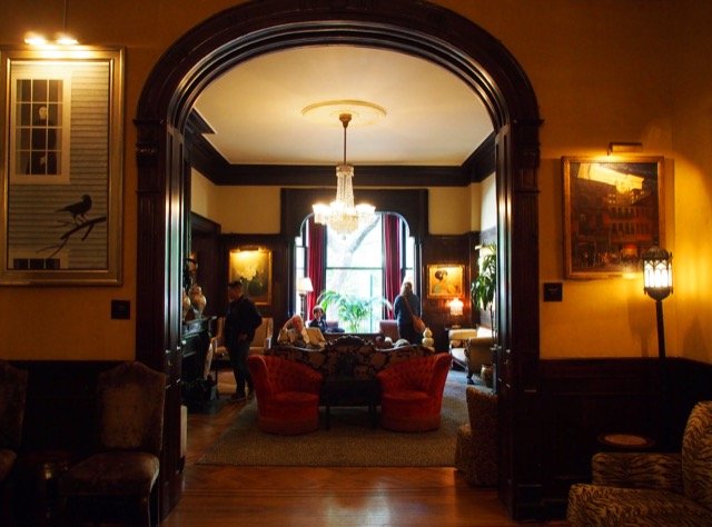 Looking into the Parlor from the bar of The National Arts Club