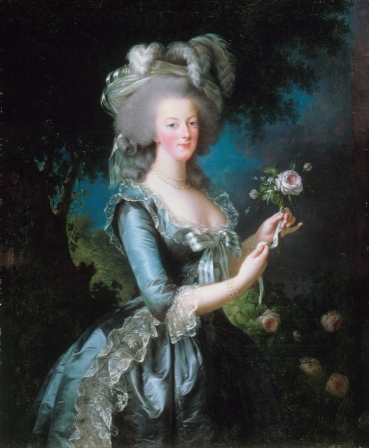 Marie Antoinette with the Rose by Elisabeth Louise Vigee-Leburn
