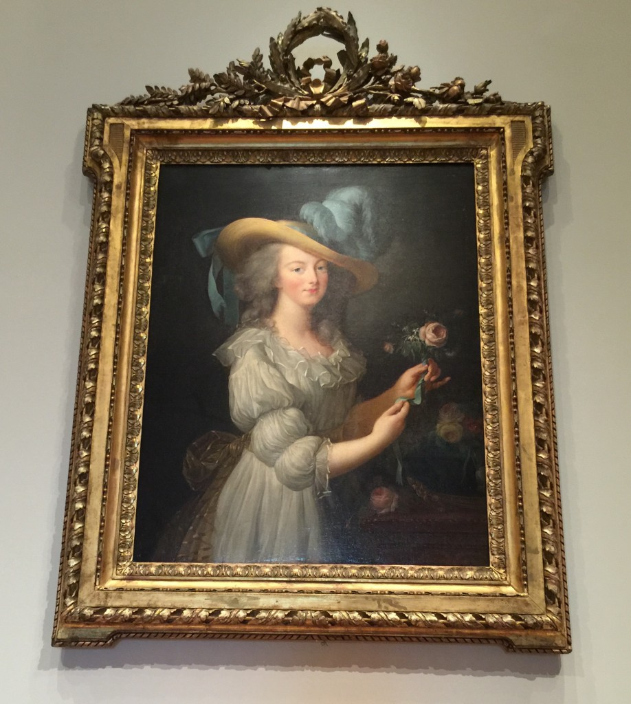 A painting of Marie Antoinette at NGA paying homage to Elisabeth Louise Vigee Le Brun