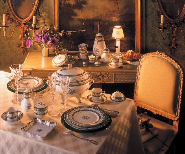 Bernardaud produces the Marie-Antoinette pattern of porcelain