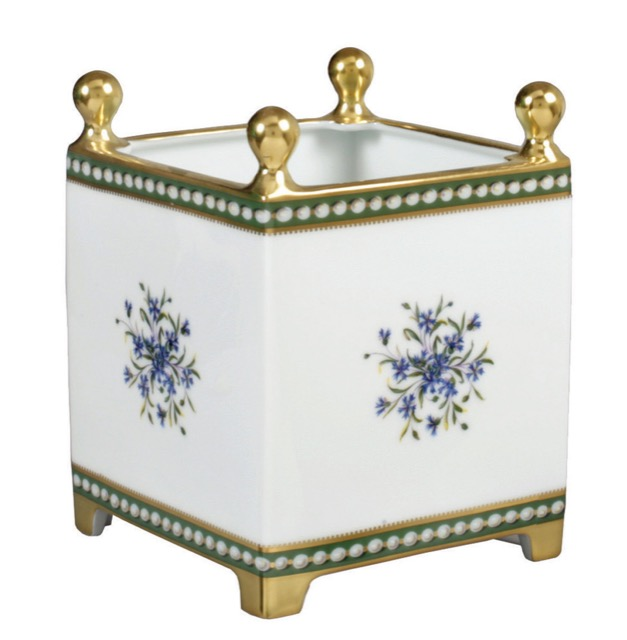 Bernardaud's Marie-Antoinette Collection includes a cachepot
