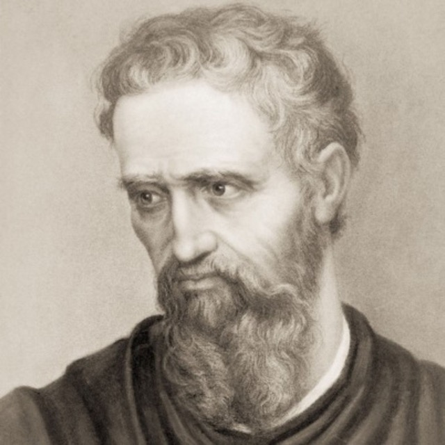 A sketch of Michelangelo Buonarroti, a preeminent painter during the Italian Reformation.