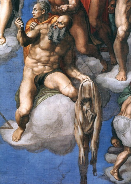 Michelangelo as St. Bartholomew in The Last Judgement