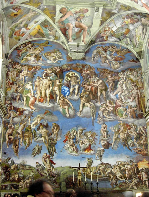 The Sistine Chapel, painted by Michelangelo