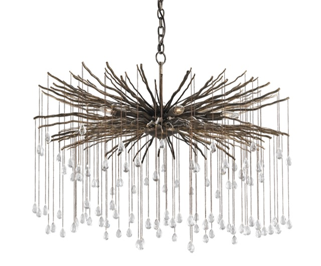 The Fen chandelier in the new Currey and Company product introductions.