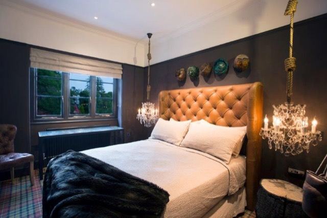 A guest room at the Glazebrook House Hotel by Timothy Oulton