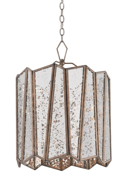 Trapezoid chandelier by Currey and Company