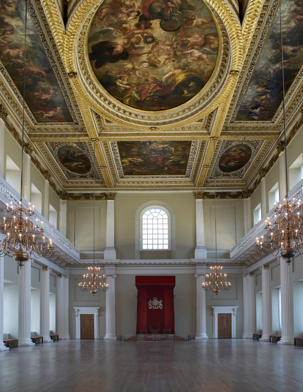 Interior of the Banqueting House; image courtesy Paul Barker.